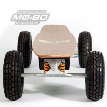 "MO-BO - Elektro-Skateboard ""Classic Wood"" 1.300 Watt ALL-TERRAIN, Channel Trucks, 36V, Lithium 49,5 Ah"