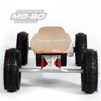 "MO-BO - Elektro-Skateboard ""Classic Wood"" 800 Watt OFF-ROAD, Channel Trucks, 36V, Lithium 22 Ah"