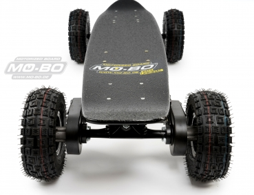 "MO-BO - Elektro-Skateboard ""Classic Wood"" 1.600 Watt Doppelmotor (2 x 800Watt) All Terrain, Channel Trucks, 36V, Lithium 38 Ah"