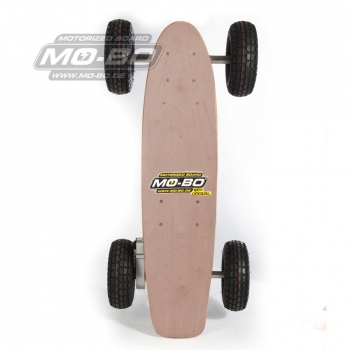 "MO-BO - Elektro-Skateboard ""Classic Wood"" 1.300 Watt ALL-TERRAIN, Channel Trucks, 36V, Bleigel 14Ah"