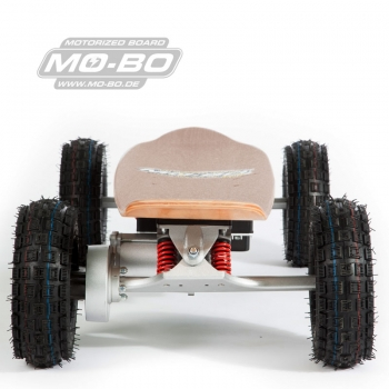 "MO-BO - Elektro-Skateboard ""Classic Wood"" 800 Watt ALL-TERRAIN, Channel Trucks, 36V, Lithium 49,5 Ah"