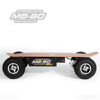 "MO-BO - Elektro-Skateboard ""Classic Wood"" 800 Watt OFF-ROAD, Channel Trucks, 36V, Lithium 20 Ah"
