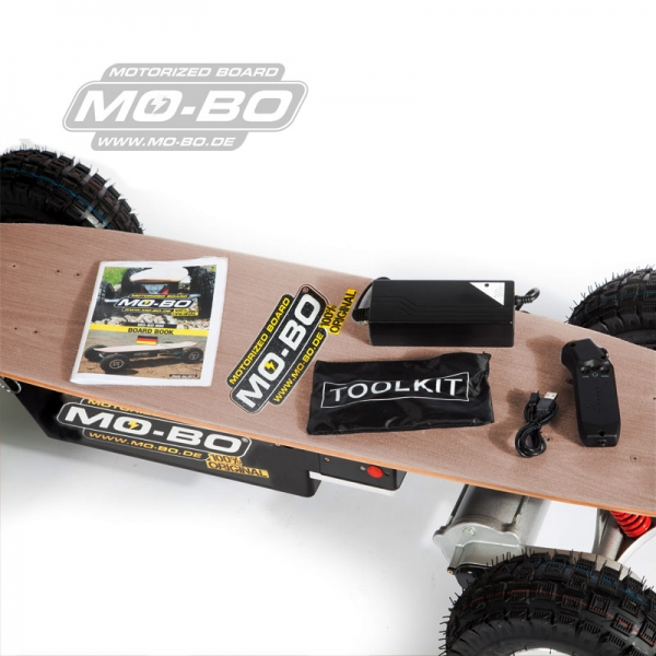 "MO-BO - Elektro-Skateboard ""Classic Wood"" 1.300 Watt ALL-TERRAIN, Channel Trucks, ohne Akku"