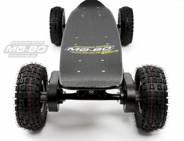 "MO-BO - Elektro-Skateboard ""Classic Wood"" 1.600 Watt Doppelmotor (2 x 800Watt) All Terrain, Channel Trucks, 36V, Lithium 22 Ah"