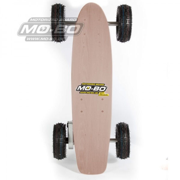 "MO-BO - Elektro-Skateboard ""Classic Wood"" 800 Watt ALL-TERRAIN, Channel Trucks, 36V, Bleigel 14Ah"