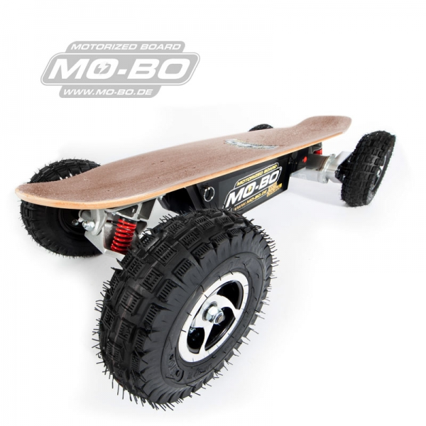 "MO-BO - Elektro-Skateboard ""Classic Wood"" 800 Watt ALL-TERRAIN, Channel Trucks, 36V, Lithium 38 Ah"