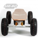 "MO-BO - Elektro-Skateboard ""Classic Wood"" 1.300 Watt ALL-TERRAIN, 36V, Channel Trucks, Lithium 20 Ah"